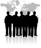 People of the world. On a white background Royalty Free Stock Image