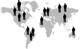 People of the world stock illustration