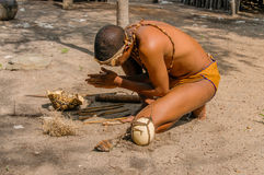 People of the World - African bushman Stock Images