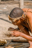 People of the World - African bushman Stock Image