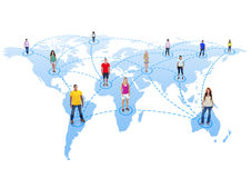 People in the World Connected Together Stock Images
