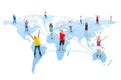 People in the World Connected Together Royalty Free Stock Photography