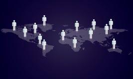People on the world. Illustration design Stock Photo