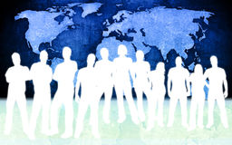 People and world map Royalty Free Stock Photo