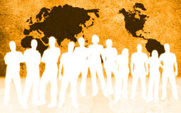 People and world map Stock Photo