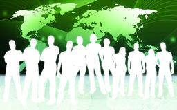 People and world map Royalty Free Stock Photography