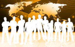 People and world map Royalty Free Stock Photos