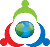 People and world symbol Stock Photo