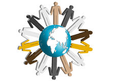 People in the world together. Together, people in the world hold hands, symbol solidify, comity, peace stock illustration