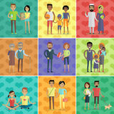 People of world vector concept in flat design Royalty Free Stock Images