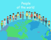 People of the World Vector Concept on Globe Stock Image