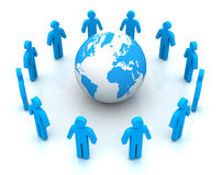 People worldwide computer connection concept 3d illustration. People worldwide computer connection 3d illustration  on white background Stock Image