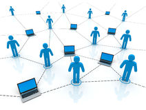People worldwide computer connection concept 3d illustration. People worldwide computer connection 3d illustration  on white background Stock Photography