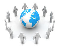 People worldwide connections concept  3d illustration. People worldwide connections 3d illustration  on white background Stock Photography