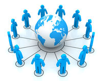 People worldwide connections concept  3d illustration. People worldwide connections 3d illustration  on white background Stock Images
