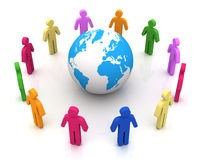 People worldwide connections 3d illustration Royalty Free Stock Photography