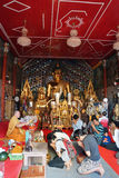People Worshiping Buddha at Doi Suthep Chiang Mai Royalty Free Stock Images