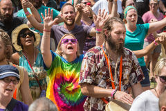 People Worshiping at the Wild Goose Festival Royalty Free Stock Photography