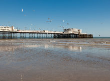 People on Worthing piear, West Sussex, UK Royalty Free Stock Photos