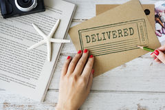 People Writing Delivered Feedback Form Concept Stock Photo