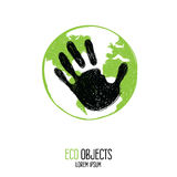 People's influence. Eco label. Royalty Free Stock Images