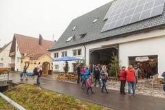 People at 1250 years village celebration in Oberdigisheim royalty free stock photos