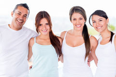 People in a yoga class Royalty Free Stock Photography
