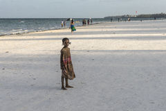 People on Zanzibar beach Stock Photography