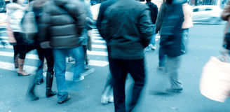 People on zebra crossing Stock Photo