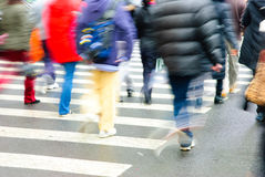 People on zebra crossing Royalty Free Stock Image