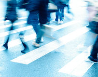 People on zebra crossing Stock Photos