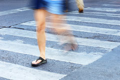 People on zebra crossing Stock Images