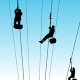 People On Zip Line. An image of people on a zip line Stock Image