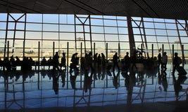 People,China Beijing Capital  Airport Stock Photo