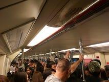Peopleful στο τραίνο στοκ φωτογραφία με δικαίωμα ελεύθερης χρήσης