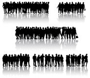Peoplep silhouettes Stock Photo