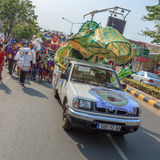 Peopleperform σε Sihanoukville ετήσιο καρναβάλι Στοκ φωτογραφίες με δικαίωμα ελεύθερης χρήσης
