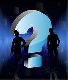 Peoples with 3d question sign Stock Photo