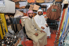 Peoples at Abu Dhabi International Hunting and Equestrian Exhibition (ADIHEX) Stock Image