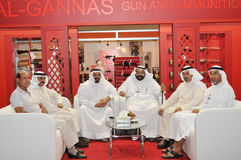 Peoples at Abu Dhabi International Hunting and Equestrian Exhibition (ADIHEX) Royalty Free Stock Photo