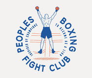 Peoples boxing club Royalty Free Stock Image