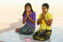 Peoples of Burma are worship Shwedagon Pagoda Royalty Free Stock Image