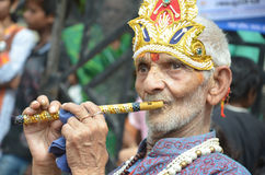 Peoples celebrating Lord Krishna Birthday in Bhopal Royalty Free Stock Images