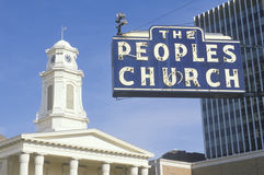 The Peoples Church sign Stock Photo