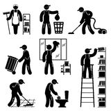 Peoples cleaning Royalty Free Stock Photos