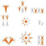 Peoples clipart for logos Royalty Free Stock Image