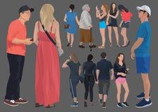 12 peoples color illustration vector illustration