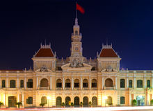 People´s Committee Building, HCMC Royalty Free Stock Photos