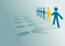 Peoples community. Paper peoples community for communication or partnership concept design Stock Images