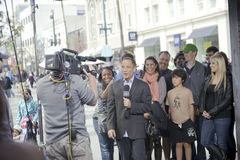 The peoples court harvey levin. A shot of Harvey Levin talking on the peoples court Royalty Free Stock Images